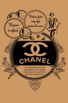 """Vintage Coco Chanel     """"In order to be irreplaceable One must always be different."""""""