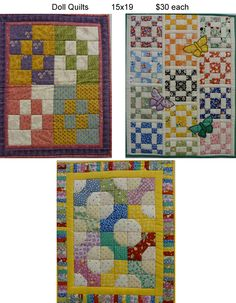 Handmade Doll Quilts!