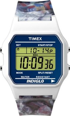Digital TIMEX 80 Classic Ladies Mens Watch White Rubber Band T2N379 ** See this great product.Note:It is affiliate link to Amazon.