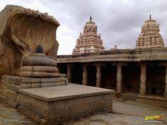 12 feet high monolithic nagalinga in Veerabhadra Swamy Temple at Lepakshi, in Andhra Pradesh, India