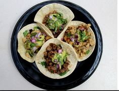 Gourmet taco catering by SoHo Taco: drop offs.  This is the typical set up our customers can expect, which includes tortillas, meats, condiments, napkins, forks, serving spoons, tongs, etc.