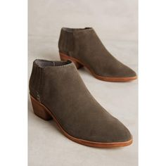 Dolce Vita Brayden Ankle Boots ($130) ❤ liked on Polyvore featuring shoes, boots, ankle booties, grey, pull on leather boots, short leather boots, leather bootie, leather ankle boots and ankle boots
