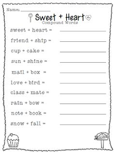 Crisscross Applesauce In First Grade: Linking up With Love *Valentine's Day Freebie* First Grade Writing, First Grade Classroom, School Holidays, School Fun, Summer School, Middle School, School Stuff, High School, Word Study