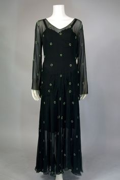 Vintage Dresses From 1930 | 1930s Chiffon Hollywood Glamour Dress