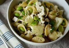 Edamame & Cauliflower Pasta Salad with Feta