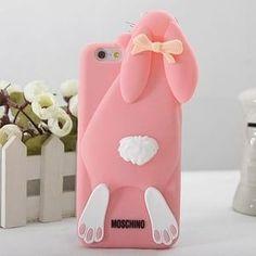 Силиконовый чехол Moschino Violetta Rabbit Светло розовый для iPhone 6
