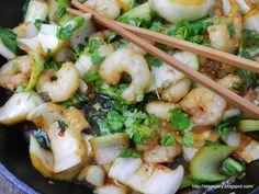 Stare Gary: Kapusta Pak choi z krewetkami Shrimp, Meat, Food, Essen, Meals, Yemek, Eten