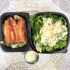 Fast food keto from Wendys!  Bunless Baconator with a side salad from Keto With Crystal on Instagram! #keto #ketodiet #ketogenic #ketorecipes #ketofood #easyketo #ketomeals #mealprep #lowcarb