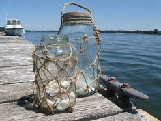How to make fishing net mason jars