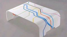 Corian table by elkeslasi.co.il - Digital print on the Canon Océ Arizona flatbed system