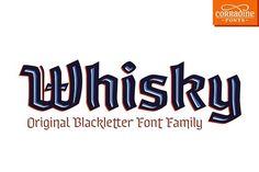 Whisky - A modern blackletter font  @creativework247