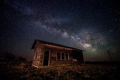 """""""The Vanishing Dark Skies""""A remote location on the Colorado plains the skys are almost as dark as you can find near civilization. The Vanishing, Old Churches, Dark Skies, Night Photography, Milky Way, Night Skies, Old Houses, Abandoned, Photo Art"""