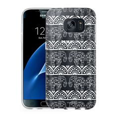 Samsung Galaxy S7 Clear Case - Dancing Lace Elephants