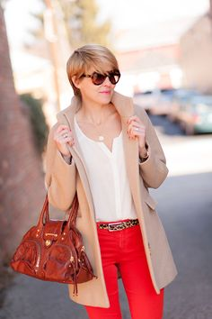 Love camel and red paired.