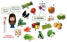 A1 - La verdura. [TOUCH esta imagen: A1 - La verdura, by Clara Sánchez Marcos, Sonora ELE]