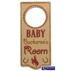 Montana Silversmiths Door Hanger - Baby Buckaroo