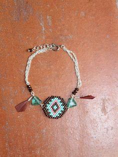 Bracelet Aztec Miyuki weaving