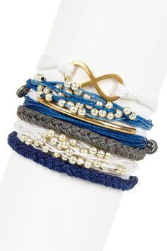 Pura Vida Nautical Assorted String Bracelet Set