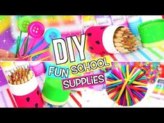 Diy crafts, diy summer life hacks decorate school supplies, cute school sup Decorate School Supplies, Diy Back To School Supplies, Back To School Essentials, Diy Projects For School, Art Projects, Idee Diy, Do It Yourself Home, Easy Diy Crafts, School Fun