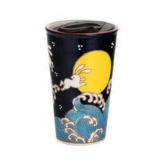 Handpainted Ryu Dragon Design Porcelain Travel Mug Double Wall | Etsy Asian Design, Fish Design, Coffee Travel, Travel Mug, Dragon Design, Insulated Tumblers, Paint Designs, Safe Food, Oriental