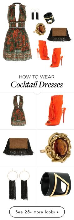 """Untitled #690"" by steflsamour on Polyvore featuring Valentino, Christian Louboutin, Marni, Isabel Marant and Bebe"