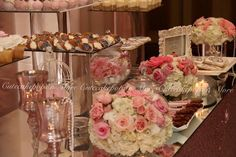 Desserts & set up by Cutecakepops N More Dearborn 313-525-0679 Floral by Yasmeenas Floral Dearborn 313-581-1112