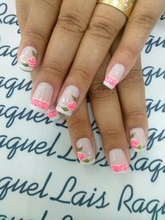 Flower Designs, Nail Colors, My Nails, Diy And Crafts, Finger, Nail Designs, Make Up, Beauty, Easy To Draw Flowers