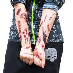 Tattoos Narben Wunden Horror Ritzen Helloween - 40 realistisch aussehende Motive #halloween #gadget