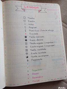 Resultado de imagem para legenda bullet journal Bullet Journal Tracker, Bullet Journal School, Bullet Journal 2019, Study Organization, Planner Organization, Agenda Planner, Student Planner, Creative Journal, Study Hard