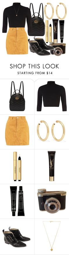 """Savages - Marina & The Diamonds"" by nothing-better-than-a-riddle ❤ liked on Polyvore featuring Gucci, River Island, Boohoo, Jennifer Fisher, Yves Saint Laurent and Vanessa Mooney"