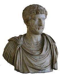 Busto del emperador Adriano; nacido en Itálica. Spain