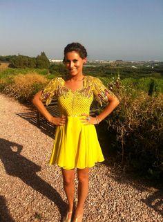Yellow Virgos lounge dress
