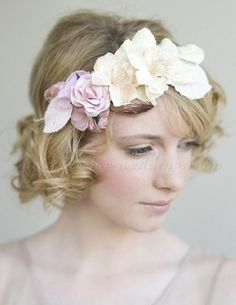 short wavy bridal hairstyles, short curly wedding hairstyles