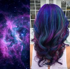 «Galaxy Hair»: галактика в волосах