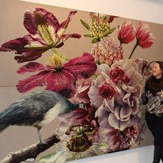 An installation shot indicating  the scale of my work. This shows 4 panels of my Gates of Paradise series which to date covers over 120 square metres. Visit my website to view the entire series.  http://ift.tt/2tw3w8c - #gatesofparadise #australianartist #oilonlinen #oilpainting #annemiddleton #gbartconsulting #melbourneartist #contemporaryart