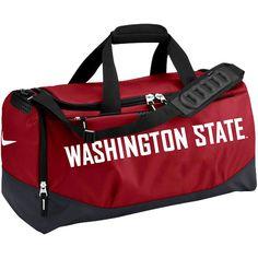 a1270b4ed64e Washington State Cougars Nike Medium Training Duffle Bag - Crimson