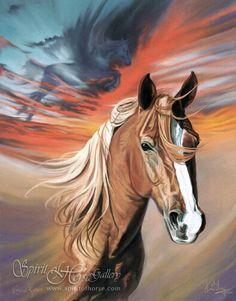 """Eternal Kaldero"", Palomino horse art by Kim McElroy."