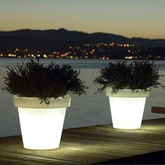 Bloom light pots by designer Rob Slewe Bloom light pots by designer Rob Slewe You are in the right place about outdoor lighting design Here we offer you the most beautiful pictures about the outdoor l Outdoor Light Fixtures, Outdoor Lighting, Pot Lights, Outdoor Parties, Light Decorations, Lighting Design, Lighting Ideas, Flower Pots, Flowers