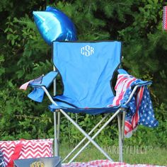 Monogrammed Tailgate Chair   Marley Lilly
