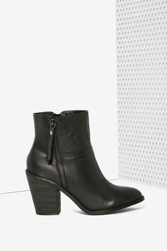 Kelsi Dagger Jetset Leather Boot - Black - Boots