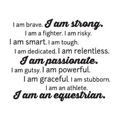 I am an Equestrian Wall Quotes™ Decal | WallQuotes.com