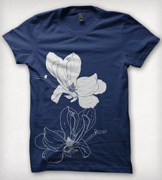 Blue Magnolia Blossom T-Shirt | Women's Clothing | Forest & Fin | Scoutmob Shoppe | Product Detail