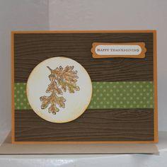 Happy Thanksgiving Card - Handmade card on Etsy, $4.00