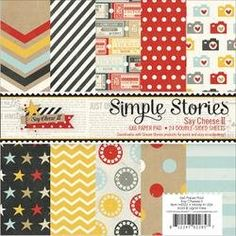 Bulk Buy Simple Stories 2Pack Paper Pad 6X6 24Pkg Say Cheese II SAY4322 -- For more information, visit image link.