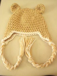 Baby Crochet Beanie Earflap Hat