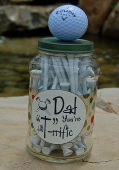 A thoughtful & low cost way to make the golfing man in your life very happy :-). #golfgifts #fathersday