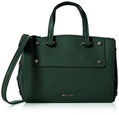 Nine West Womens Sheer Genius Micro Tote Sm Tote Dk Emerald/Hematite