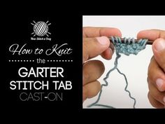 How to Knit the Garter Stitch Tab Cast On for Triangular Shawls - YouTube