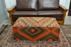 656 Antique Kilim Coffee table / Rug by OakParkAntiques on Etsy, $545.00