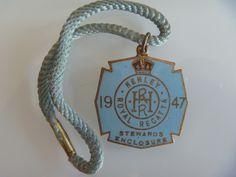 1947 ENAMELLED HENLEY ROYAL REGATTA STEWARDS BADGE & CORD R E PEARCE HRR | eBay